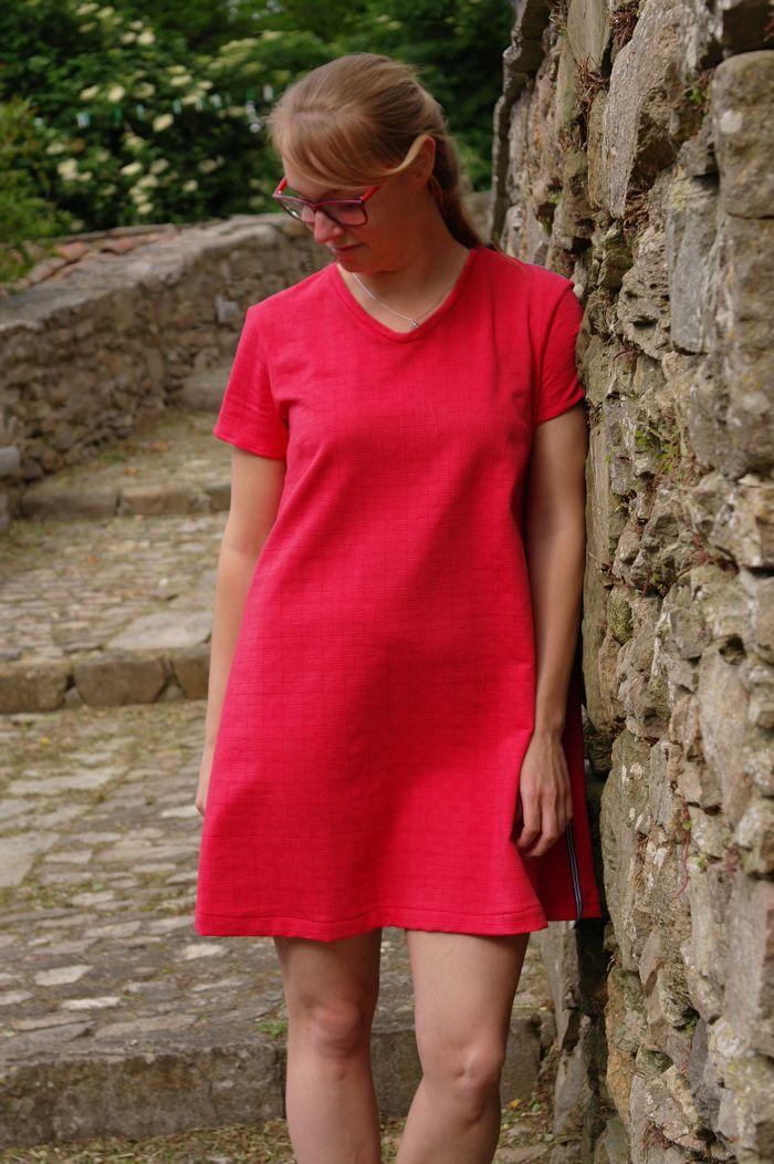 Modern A-line dress by Sewingridd