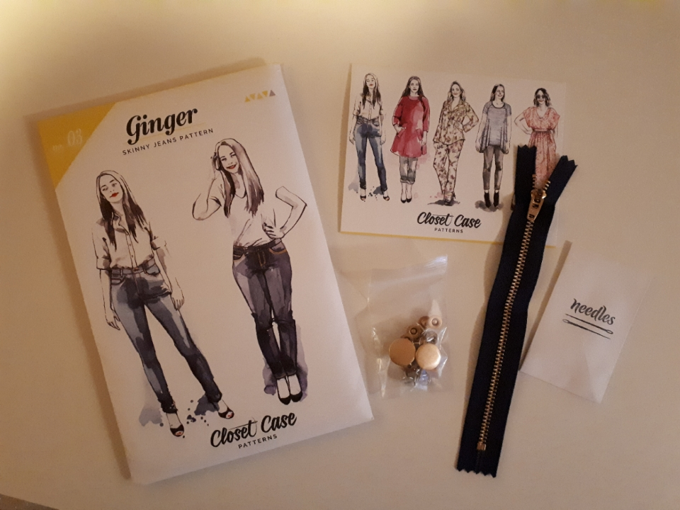 Sewingridd and her Ginger Jeans pattern and hardware kit by Closet Case Patterns