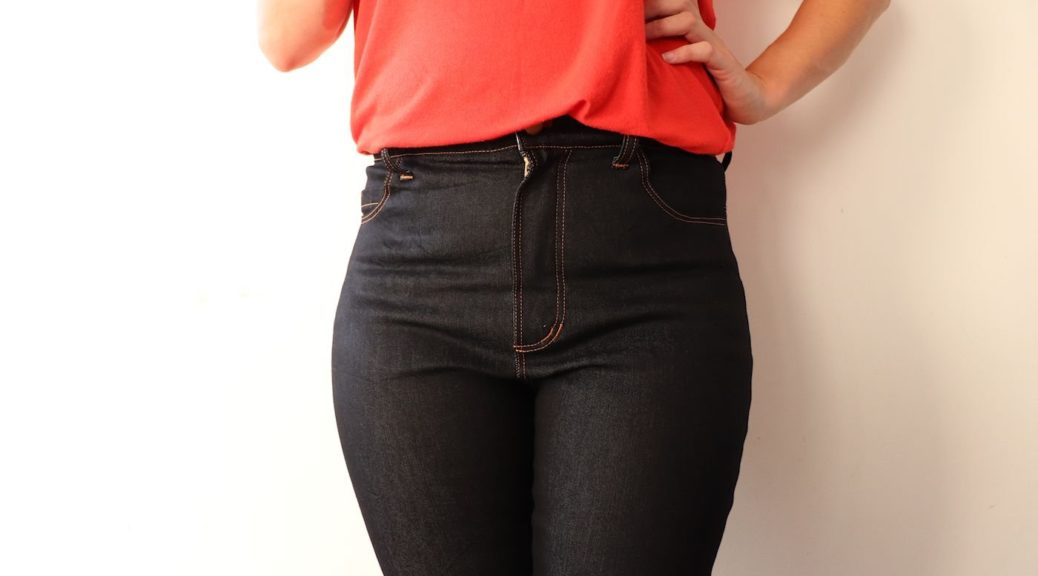 High waisted Ginger Jeans sewn by Sewingridd