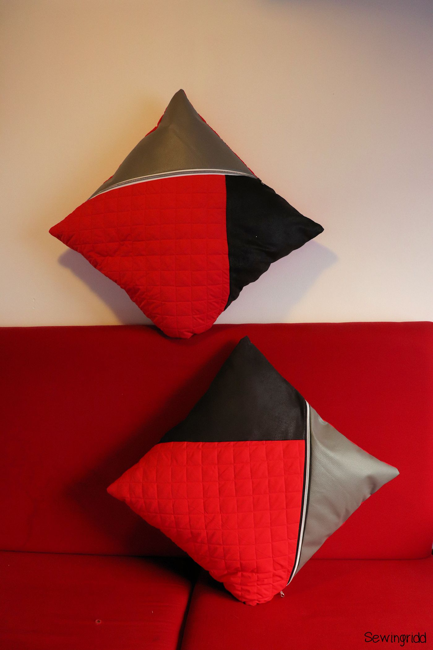 Pillow cases designed and sewn by Sewingridd