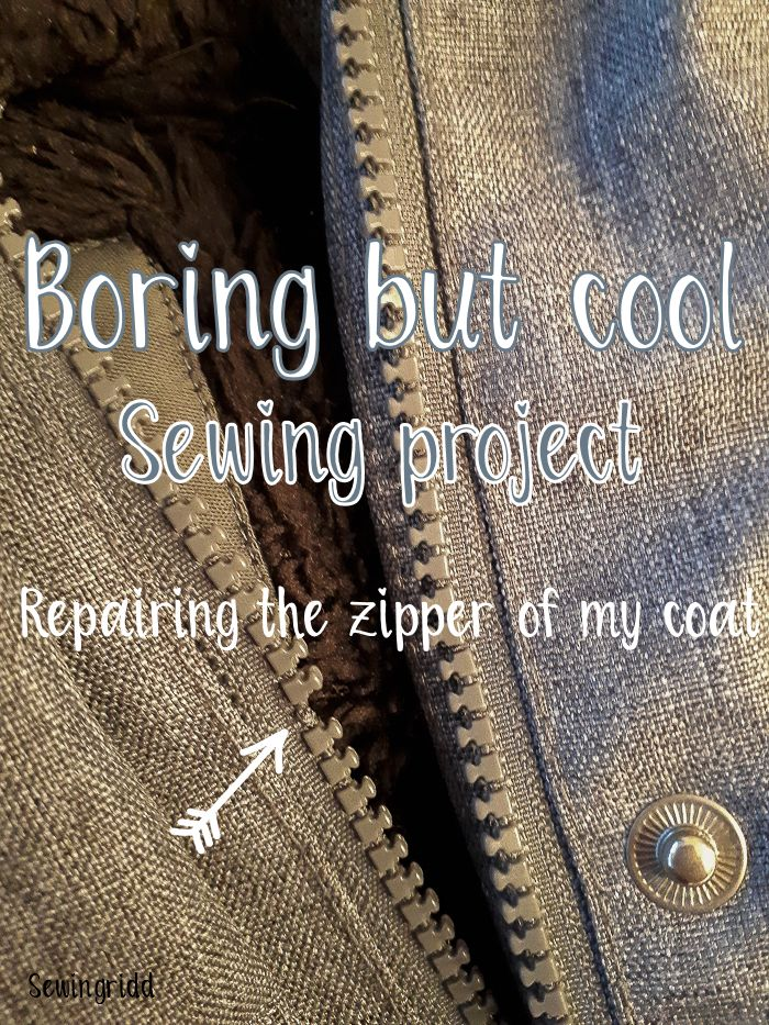 Boring zipper replacement is actually quite cool and easy - Blog by Sewingridd