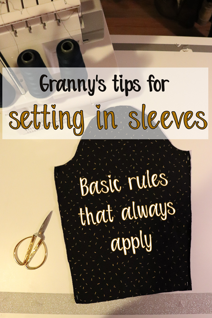 Granny's tips on setting in sleeves - basic rules that always apply. Tutorial by Sewingridd