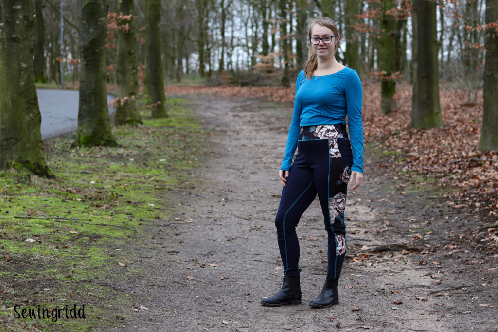 Horseriding leggings sewn by Sewingridd