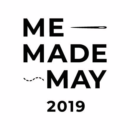 MeMadeMay logo by https://sozowhatdoyouknow.blogspot.com/. Blog by Sewingridd