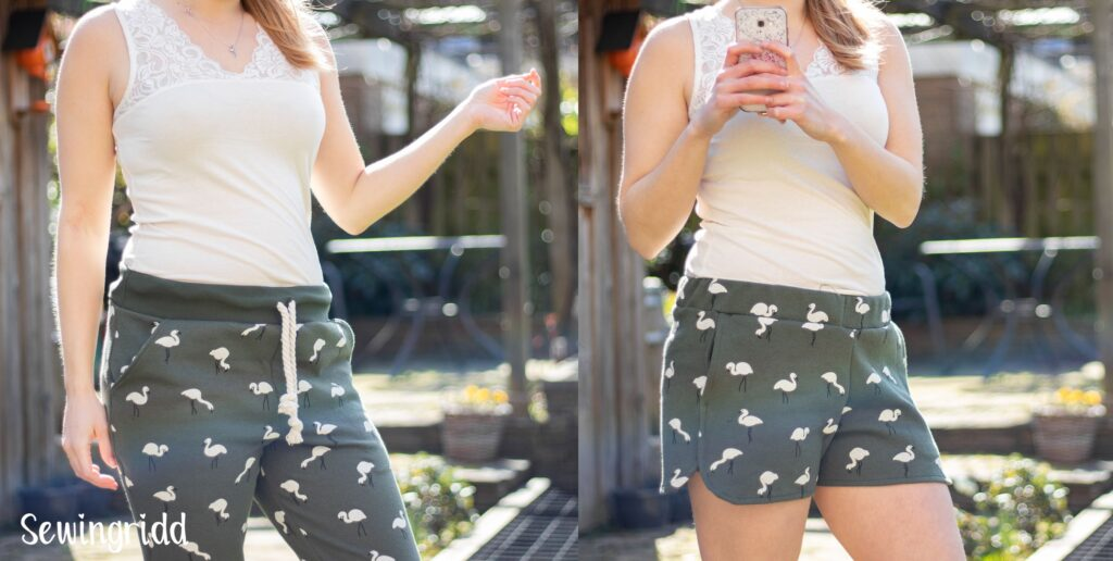 Mini & Maxi - Skye Joggers and Barton Shorts by Blank Slate Patterns, Sewn by Sewingridd